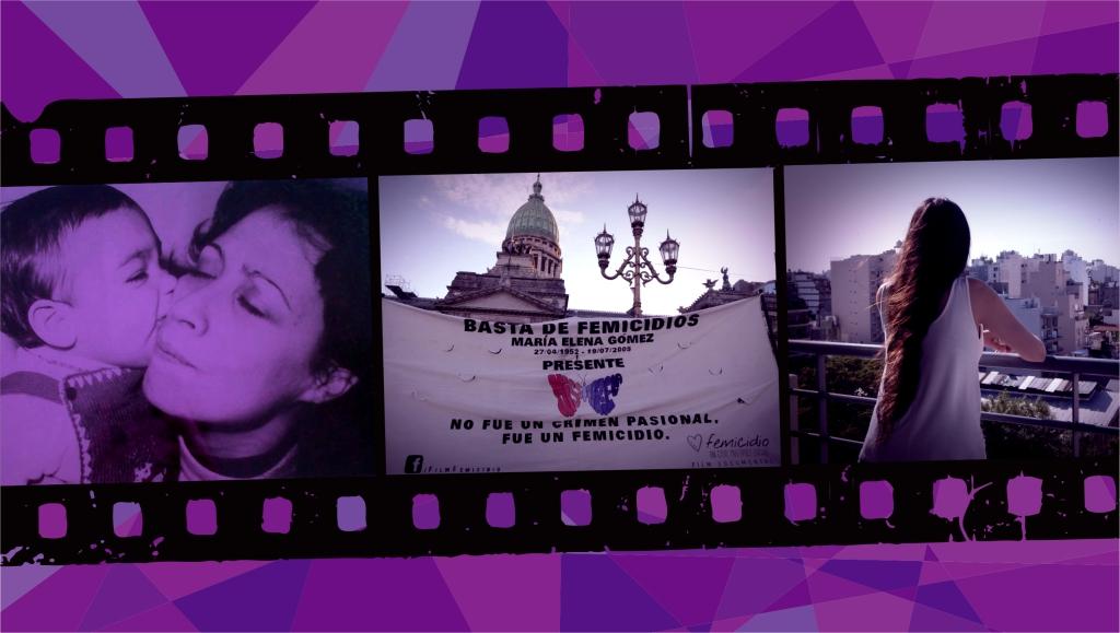 Pieza para el documental FEMICIDIO. UN CASO, MÚLTIPLES LUCHAS. Diseño: Pablo Mozuc. Fotos de izquierda a derecha: Emilio Capasso; Analía Ávalos; María Alejandra Adler.
