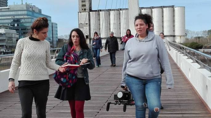 Backstage del documental Femicidio. Un caso, múltiples luchas en Puerto Madero