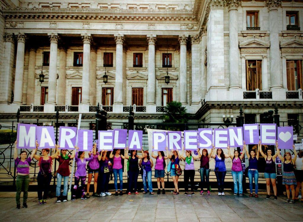 Mariela presente. Film femicidio. 8 de marzo de 2017